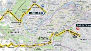 Tour De France Stages Map tour De France 2018 Route Stage 21 Houilles Paris