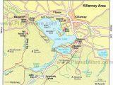 Tourist attractions In Ireland Map Killarney area Map tourist attractions Ireland Mo Chroa In