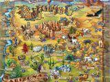 Tourist Map Of Arizona Illustrated Arizona Map Tristan S Hideout A O Arizona Arizona