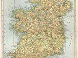 Tourist Map Of Ireland 1907 Antique Ireland Map Vintage Map Of Ireland Gallery Wall Art