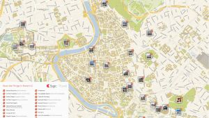 Tourist Map Rome Italy Rome Printable tourist Map Sygic Travel