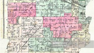 Townships In Michigan Map Michigan 1873 Battle Creek township Calhoun County Stock