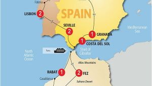 Trafalgar Spain Map Map Of Spain and Morocco so Helpful Map Of Spain Morocco Et
