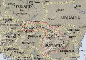Train Map Eastern Europe Carpathian Mountains Maps Of Central and Eastern Europe