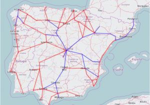 Train Map Eastern Europe Rail Map Of Spain and Portugal
