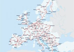 Train Maps Europe European Railway Map Europe Interrail Map Train Map