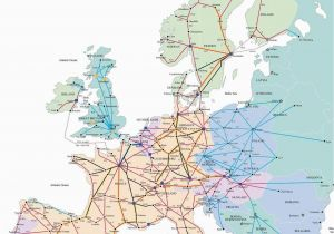 Train Maps Europe Train Map for Europe Rail Traveled In 1989 with My Ill
