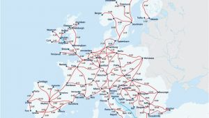 Trains In Europe Map European Railway Map Europe Interrail Map Train Map