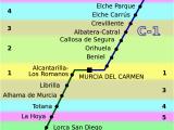 Trains In Spain Map Cercana as Murcia Alicante Wikipedia