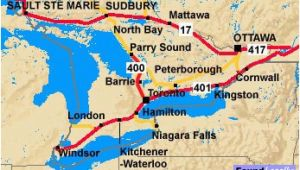 Trans Canada Highway Map to and From toronto Ontario and the Trans Canada Highway