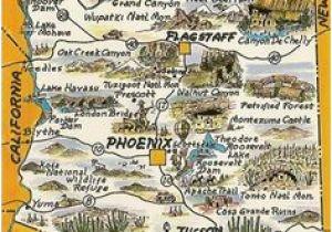 Travel Map Of Arizona 162 Best Maps Images Maps Cartography City