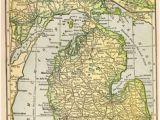 Turnip Rock Michigan Map 30 Best Maps Images Map Of Michigan Antique Maps Lake Michigan