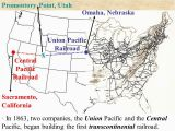 Union Pacific Railroad Map California Transcontinental Railroad Powerpoint Presentation American History