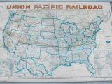 Union Pacific Railroad Map California Union Pacific Railroad Routes Usa Wall Map 1940