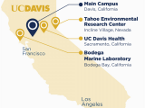 University Of California Locations Map About Uc Davis Uc Davis