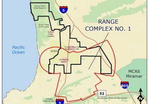 University Of California San Diego Map Ucsd Camp Matthews Range Complex No 1