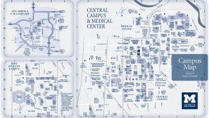 University Of Michigan Ann Arbor Campus Map Campus Maps University Of Michigan Online Visitor S Guide