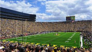 University Of Michigan Stadium Map Michigan Wolverines Football In Ann Arbor