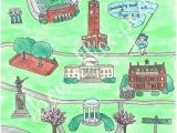 University Of north Carolina Chapel Hill Map University Of north Carolina Chapel Hill Map Print Gone to