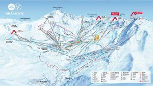 Val Thorens France Map Val Thorens Piste Map 2019 Ski Europe Winter Ski
