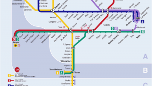 Valencia Spain Metro Map Valencia Metro Map Map Of the Underground System In Valencia Spain