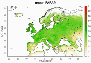Vegetation Map Of Europe the Spatial Distribution Of Climatological Averages for 1998