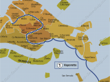Venice Italy tourist Map Transport Vaporetto Waterbus Bus Lines Maps Venice Italy