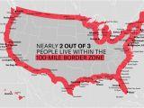 Vermont Canada Border Map the Constitution In the 100 Mile Border Zone American Civil