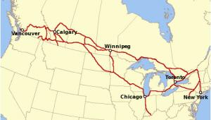 Via Canada Rail Map Canadian Pacific Railway Wikipedia