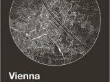 Vienna Italy Map Street Map Art City Print Vienna Austria Minimalist Map Of