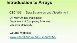 Villanova Italy Map Csc 1051 Data Structures and Algorithms I Dr Mary Angela