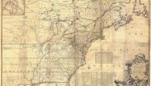 Wall Map Of New England 1757 Colonial Map Map Of British Colonies north America Old Map