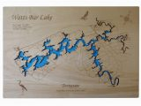 Watts California Map Watts Bar Lake Tennessee Wood Laser Cut Map Phds On Artfire