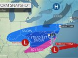 Weather Map for north Carolina Weekend Storm to Unleash Snow Ice From north Carolina to Virginia