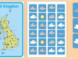 Weather Map Of England United Kingdom Weather forecasting Role Play Pack