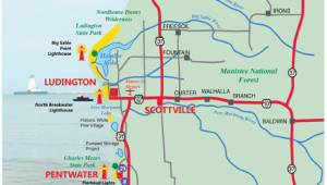 West Coast Michigan Map West Michigan Guides West Michigan Map Lakeshore Region Ludington