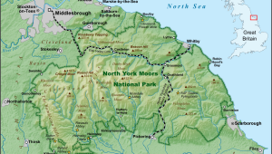 West Yorkshire England Map north York Moors Wikipedia