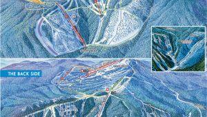 Western Canada Ski Resorts Map Alpine Trail Maps Silver Star Mountain Resort