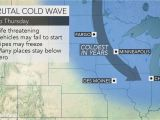 Western Canada Weather Map as Polar Vortex Tightens Its Grip On Midwestern Us
