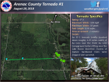 Wexford County Michigan Map Four Confirmed tornadoes August 28th Severe Weather Summary