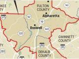 Where is Alpharetta Georgia On A Map Map Georgia S Congressional Districts