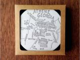 Where is athens Georgia On Map Letterpress athens Georgia Map Coasters Just Things