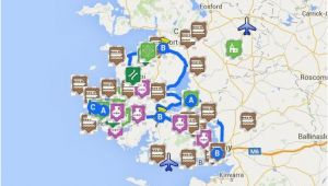 Where is Connemara In Ireland On A Map Map Of Connemara Sights Ireland Ireland Map Connemara Ireland