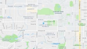 Where is fort Collins Colorado On the Map fort Collins Co Map New Rams Crossing Campus fort Collins Co Maps