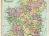 Where is Ireland On A World Map Ireland Map Vintage Map Download Antique Map C S Hammond
