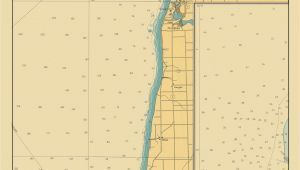 Where is Lake Michigan On A Map Lake Michigan Map Lake Macatawa to south Haven 1947 Love