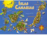 Where is Lanzarote On the Map Of Spain Canary islands Spain Map Postcard In 2019 Lanzarote Canarian