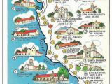 Where is Long Beach California On Map Map Of California Missions Built Between 1769 and 1823 Spanish