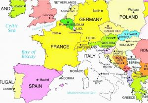 Where is Luxembourg Located On A Map Of Europe 36 Intelligible Blank Map Of Europe and Mediterranean
