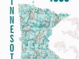 Where is Minnesota On the Map Minnesota Map Print Jhill Design Map Prints Things for My Wall